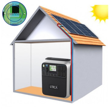10.2m² Roof Surface Area Required For UTICA® MobileGrid Generator 1500-1500 (Off-Grid Solution)
