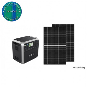 3.4m² Roof Surface Area Required For UTICA® MobileGrid Solar Generator 600-1500 (Off-Grid Solution)